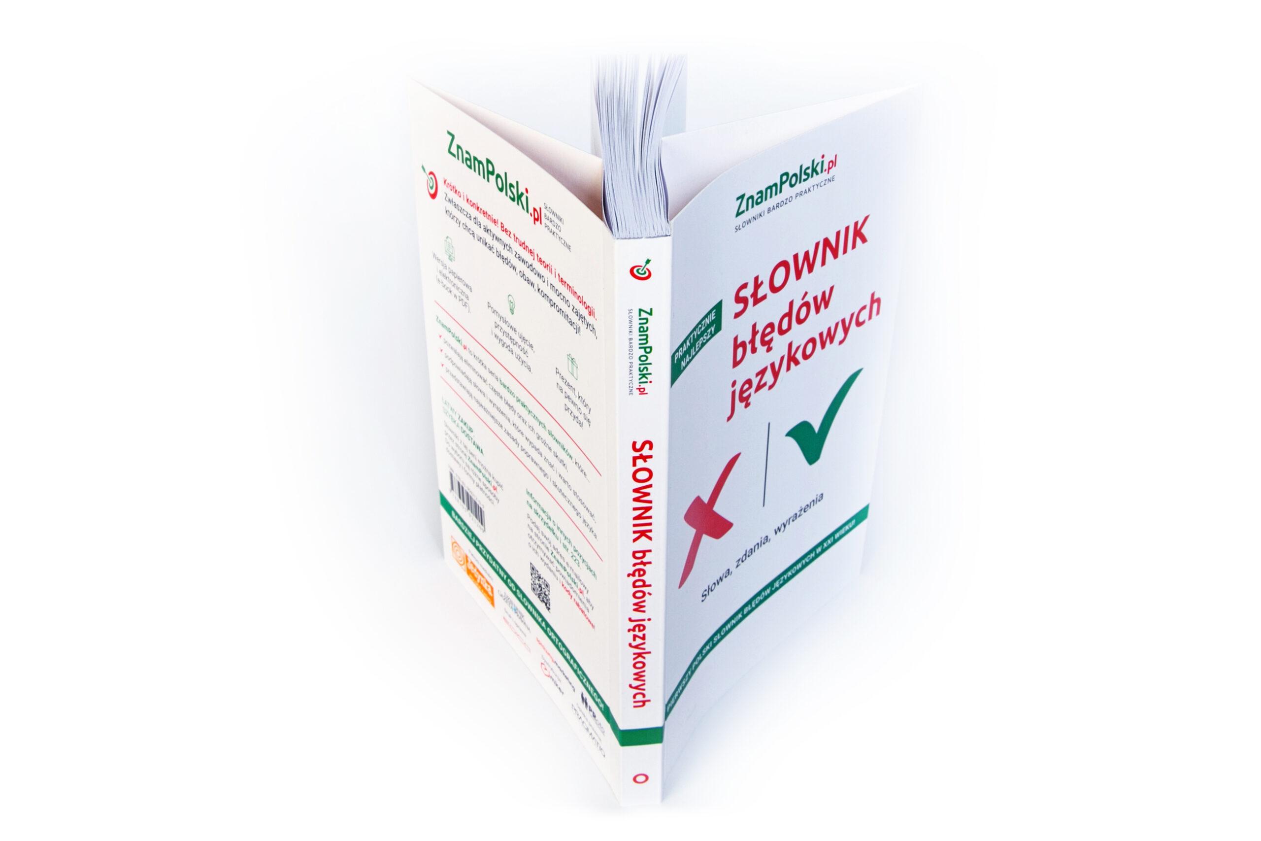 Książka słownik błędów językowych